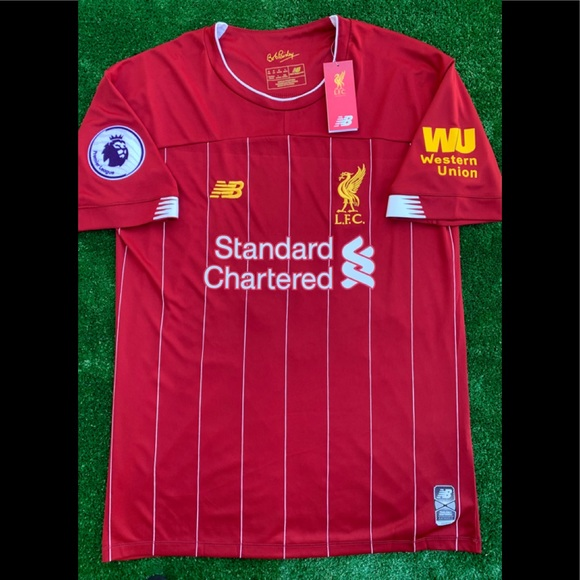 47909b3bc8 New Balance Shirts | 201920 Liverpool Fc Soccer Jersey Virgil Van ...